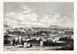 Edinburgh from Warriston Cemetery 1843