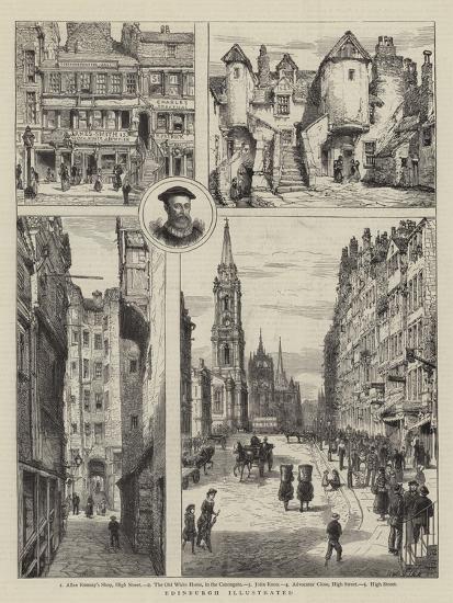 Edinburgh Illustrated-Henry William Brewer-Giclee Print