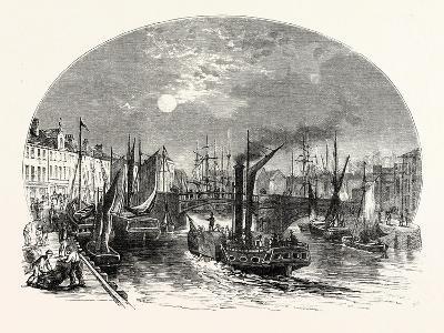 Edinburgh: Leith Harbour 1829--Giclee Print