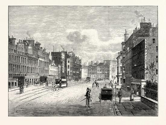 Edinburgh: Leith Walk from Gayfield Square Looking South--Giclee Print