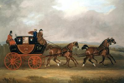 Edinburgh-London Royal Mail-D Dally-Giclee Print