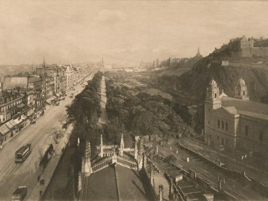 'Edinburgh, Looking Towards Calton Hill, from the West End of Princes Street', 1902-Unknown-Photographic Print