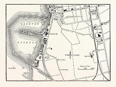 Edinburgh: Map of Granton and Neighbourhood--Giclee Print