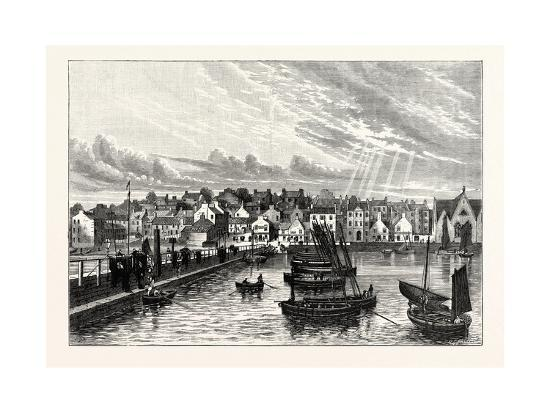Edinburgh: Newhaven from the Pier--Giclee Print