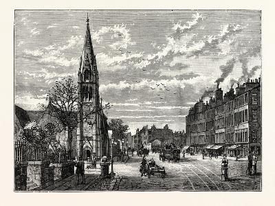 Edinburgh: Pilrig Free Church and Leith Walk Looking North--Giclee Print