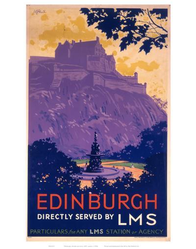 Edinburgh Purle Hill--Art Print