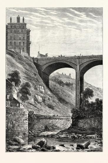Edinburgh: Randolph Cliff and Dean Bridge--Giclee Print