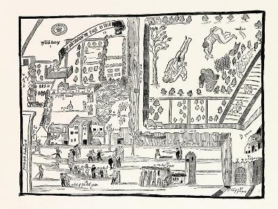 Edinburgh: Rough Sketch of the Kirk-Of-Field February 1567 Taken Hastily for the English Court--Giclee Print