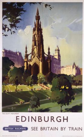 Edinburgh: The Scott Monument, BR, c.1950s