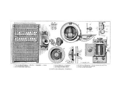 Edison Carbon Telephone, 1879--Giclee Print