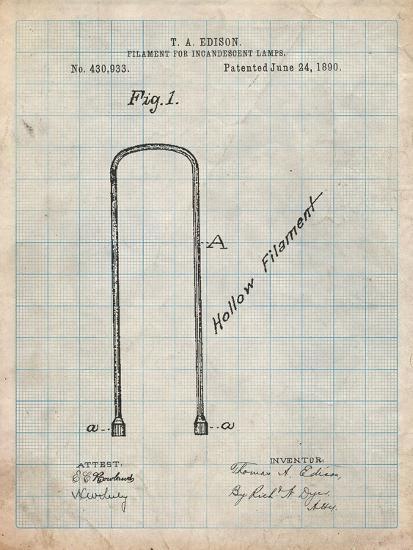 Edison Filament Art-Cole Borders-Art Print