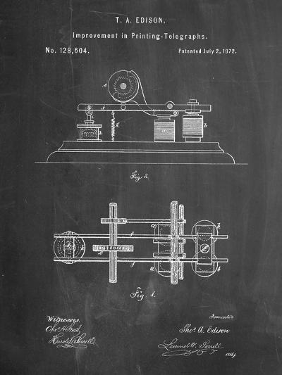 Edison Printing Telegraph Patent Art-Cole Borders-Art Print