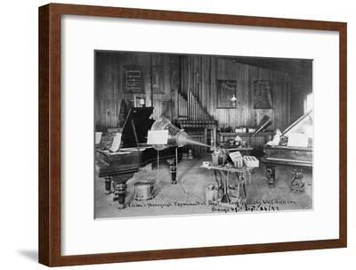 Edison's Experimental Department--Framed Giclee Print