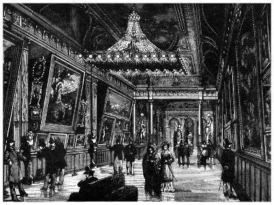 Edison's Incandescent Lamps Light Up a New York Art Gallery, 1882--Giclee Print