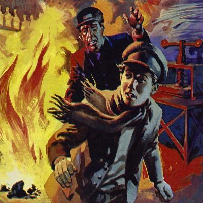 Edison Sold Newspapers on Trains; One Day He Accidentally Set a Carriage on Fire--Giclee Print