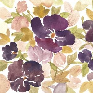 Aubergine Blossom 1 by Edith Lentz