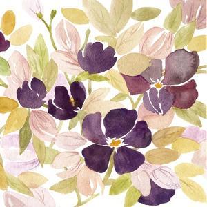 Aubergine Blossom 2 by Edith Lentz
