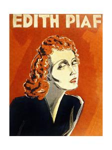 Edith Piaf (1915-1963) French Singer, C. 1930