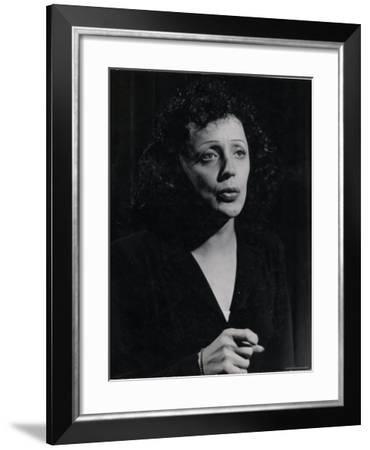 Edith Piaf-Gjon Mili-Framed Premium Photographic Print