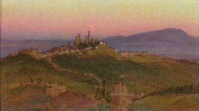 View of San Gimignano, 1898 (Oil on Panel) by Edith Ridley Corbet