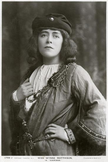 Edith Wynne Matthison, British Actress, C1907--Giclee Print