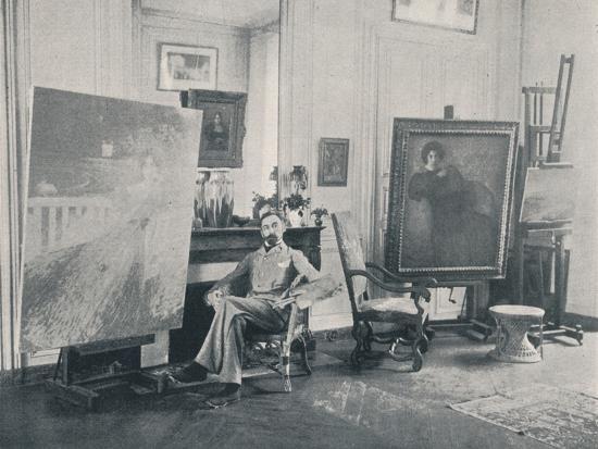 Edmond Francois Aman-Jean (1858-1936). French symbolist painter, 1898-Unknown-Photographic Print