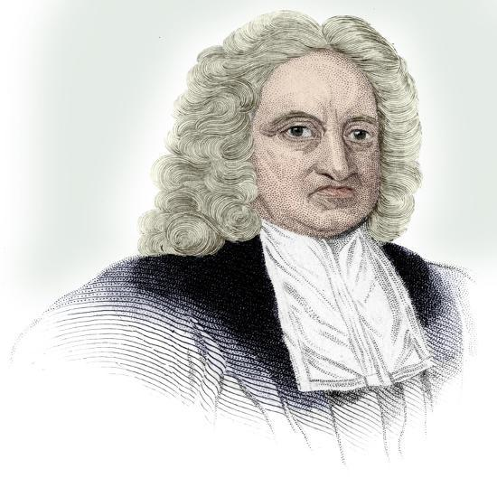 Edmond Halley, English astronomer, mathematician, meteorologist, and physicist, (c1850)-Unknown-Giclee Print