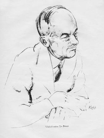 Dr Edvard Benes, Czechoslovakian Statesman, 1935