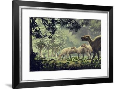 Edmontosaurus Annectens, a Hadrosaurid from the Late Cretaceous Period--Framed Art Print