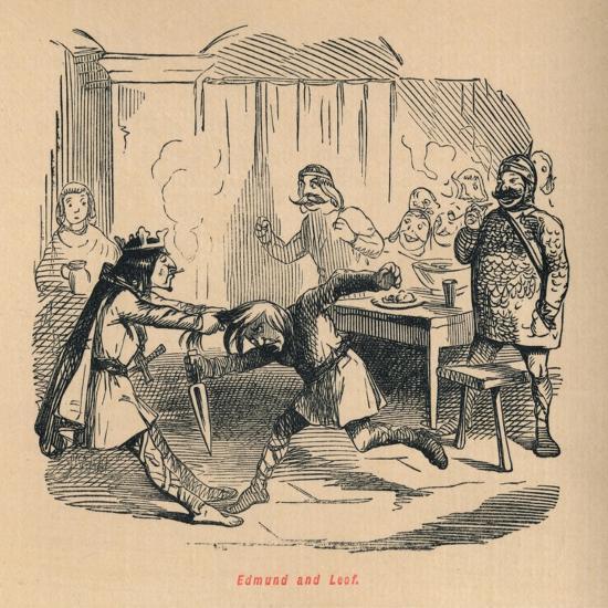 'Edmund and Leof', c1860, (c1860)-John Leech-Giclee Print