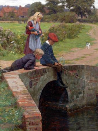 A Nibble, 1914 by Edmund Blair Leighton