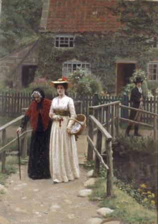 A Wistful Glance, 1897 by Edmund Blair Leighton