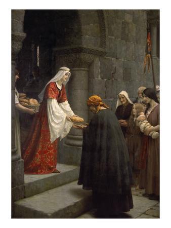 Die Hl.Elisabeth Von Ungarn Speist die Armen, 1895