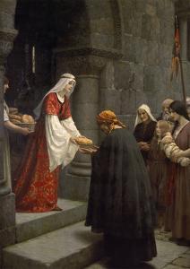Die Hl.Elisabeth Von Ungarn Speist die Armen, 1895 by Edmund Blair Leighton