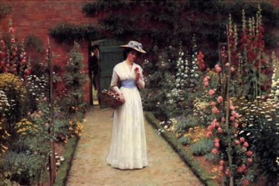 Lady in the Garden by Edmund Blair Leighton