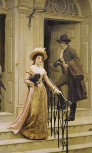My Next-Door Neighbour, 1894 by Edmund Blair Leighton