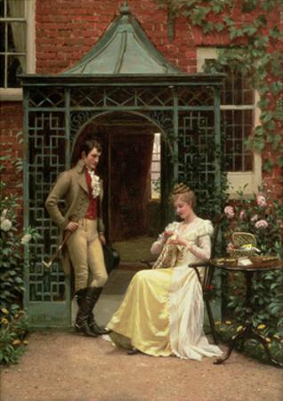On the Threshold, 1900 by Edmund Blair Leighton