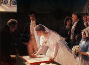 Signing the Register by Edmund Blair Leighton