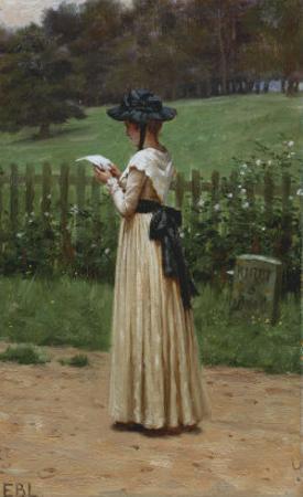 The Love Letter, 19th Century by Edmund Blair Leighton