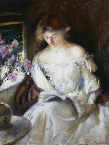 Girl Reading by Edmund Charles Tarbell