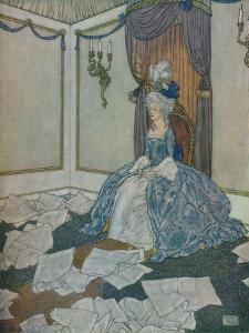 She had read all the newspapers in the world and had forgotten them again, so clever is she, 1912 by Edmund Dulac