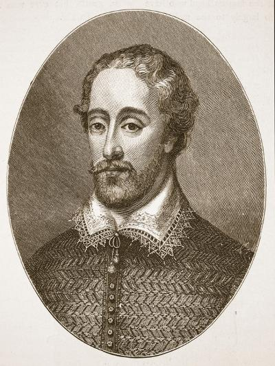 Edmund Spenser, from an Engraving by G. Vertue-English School-Giclee Print