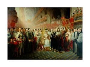Coronation of Queen Victoria by Edmund Thomas Parris