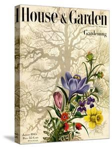 House & Garden Cover - January 1945 by Edna Eicke