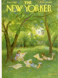 The New Yorker Cover - August 12, 1961 by Edna Eicke