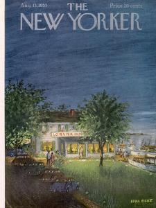 The New Yorker Cover - August 13, 1955 by Edna Eicke