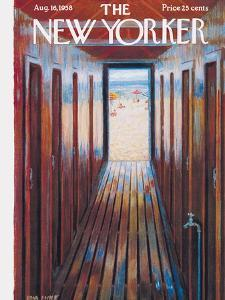 The New Yorker Cover - August 16, 1958 by Edna Eicke