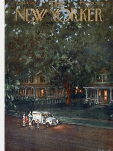 The New Yorker Cover - August 24, 1957 by Edna Eicke