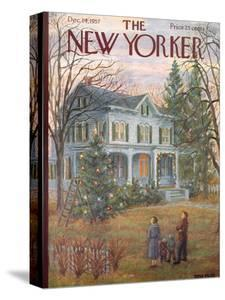The New Yorker Cover - December 14, 1957 by Edna Eicke