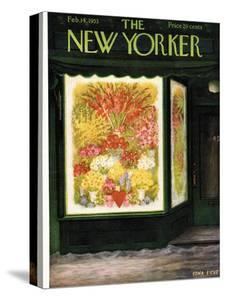 The New Yorker Cover - February 14, 1953 by Edna Eicke